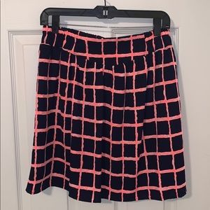 Miami size L navy blue & hot pink mini skirt